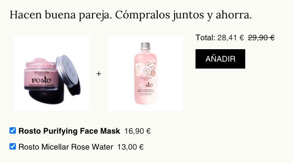 Fichas de producto venta cruzada